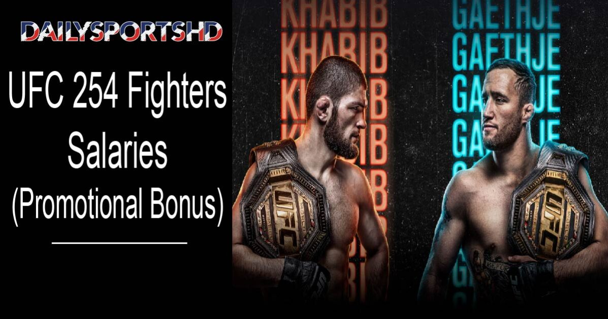 UFC 254 Fighters Salaries (Khabib vs Gaethje)